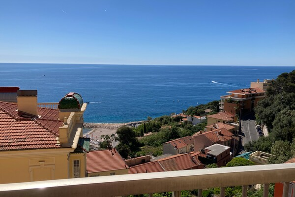 CAP D'AIL - 2 BEDROM APARTMENT  - SEA VIEW AND GARAGE