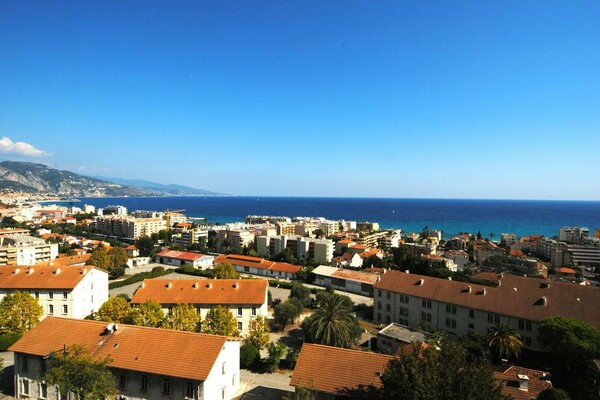Real estate Roquebrune Cap Martin - For sale, two bedroom duplex apartment with panoramic sea view