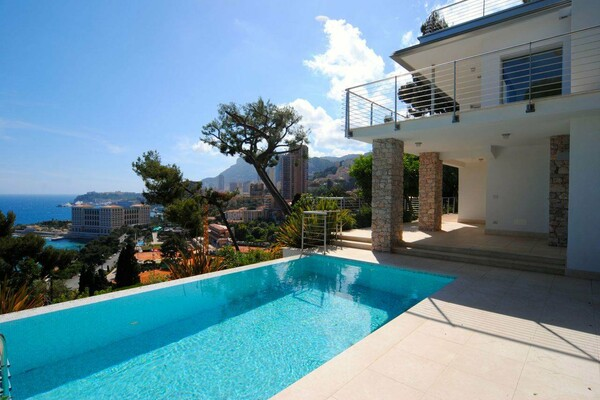 For sale, awesome villa with swimming pool and panoramic sea and Monaco view