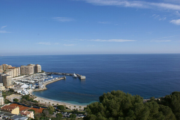 Cap-D'Ail - For rental, awesome two bedroom apartment with panoramic sea view and garage