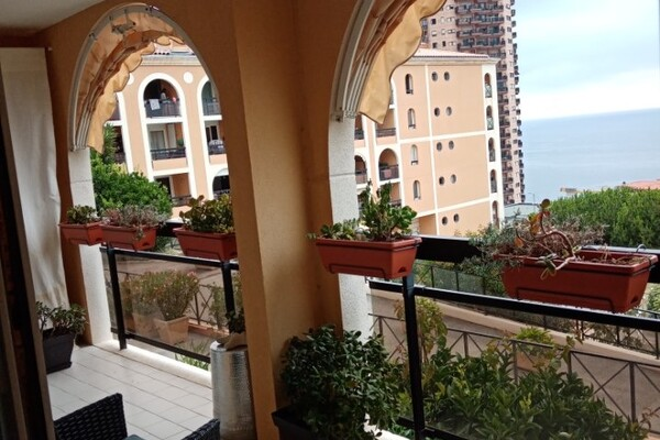 BEAUTIFUL 3 ROOM APARTMENT BORDERING MONACO - RENTED FURNISHED