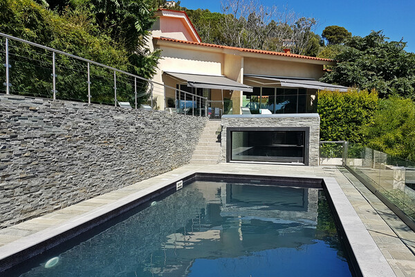 Villa in Eze with a sea view