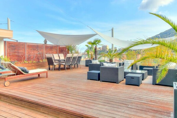 BEAUSOLEIL - ROOFTOP WITH BEAUTIFUL TERRACE - VIEW PRINCELY PALACE AND SEA