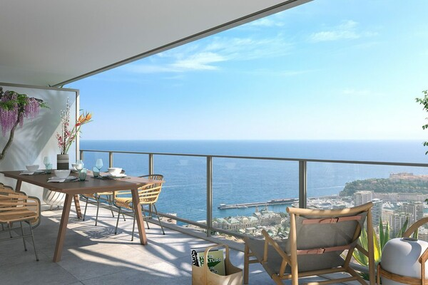 Beausoleil - 4 room apartment in a new luxury residence with panoramic views