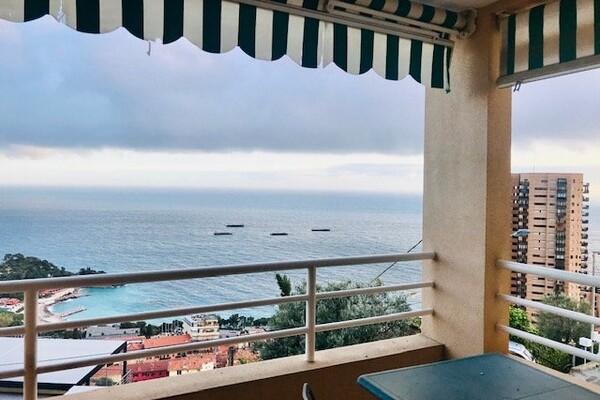 Roquebrune Cap Martin - Appartement views of  Beach de Monaco