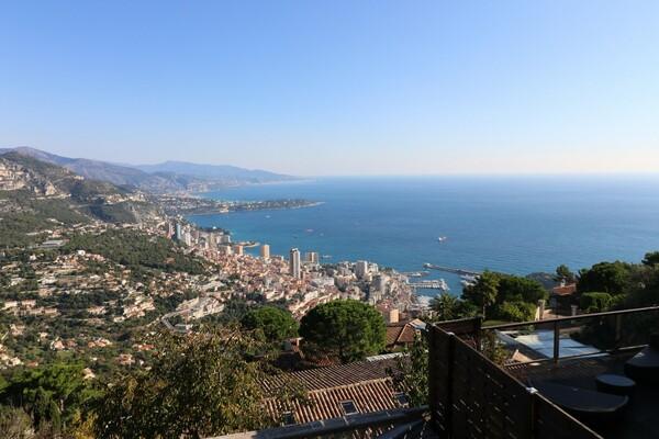 Beautiful Villa - La Turbie - Panoramic view of the Principality
